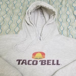 Vintage 90s Taco Bell Hoodie Sweatshirt Logo Food